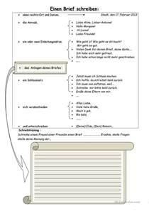 Offizieller Brief Auf Französisch Einen Brief Schreiben Arbeitsblatt Kostenlose Daf Arbeitsbl 228 Tter