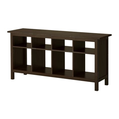 hemnes sofa table black brown ikea