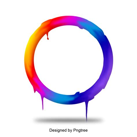 background frame circle colorful png transparent
