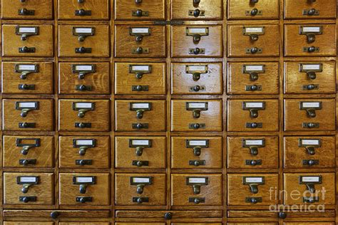 card catalog drawers photograph by woodhouse