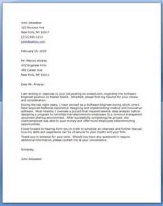 cover letter for senior software engineer systems engineer cover letter sle leading career
