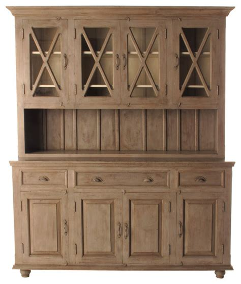 Country Kitchen Cabinet Doors Country Plantation 4 Door Hutch Cabinet Large Traditional Storage Cabinets By