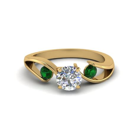 Yellow Gold Engagement Rings Images Of Yellow Gold by Emerald Rings Yellow Gold Www Pixshark Images
