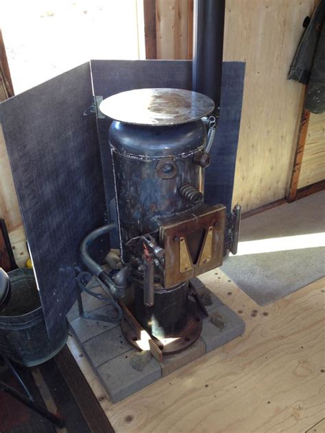 diy wood burning c stove a one of a tiny house packed with rustic chic design finishes