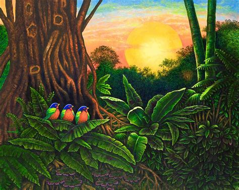 jungle painting jungle harmony iii painting by michael frank