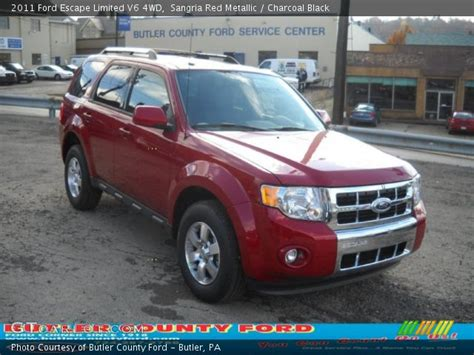 2011 Ford Escape Limited by Sangria Metallic 2011 Ford Escape Limited V6 4wd