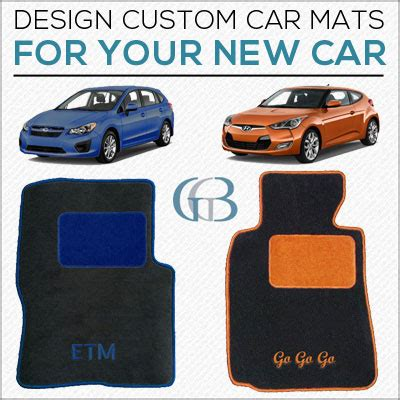 how to custom design car mats to match new car colors