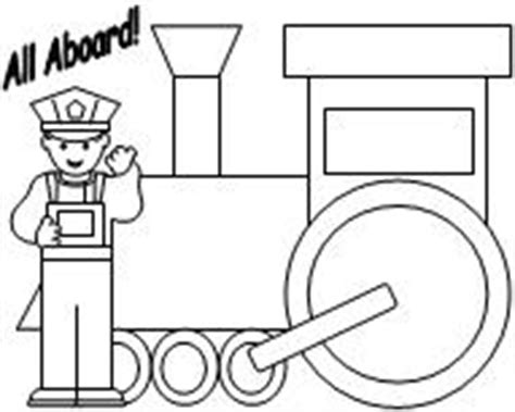 coloring page of train conductor learning printables for children