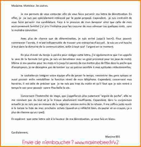 Lettre De Motivation Stage Bts Esf 5 Exemple De Lettre De Motivation Pour Bts Exemple Lettres