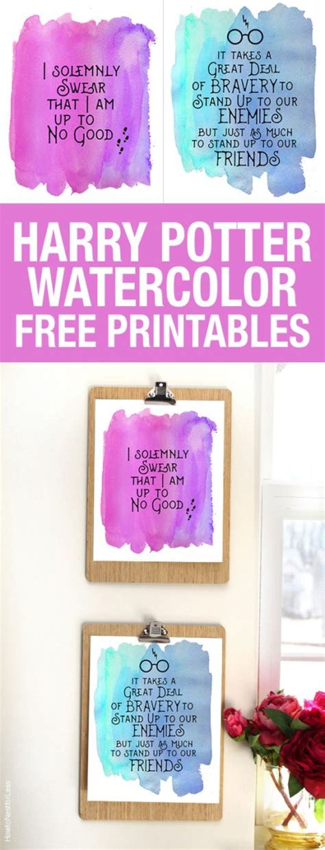 7 harry potter craft ideas printables harry potter watercolor quote printables free printables