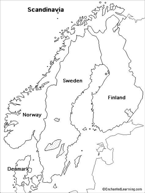 outline map scandinavia enchantedlearning com