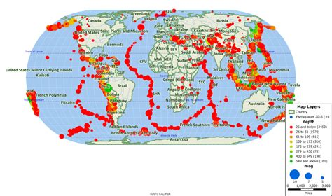 earthquake locations mapping earthquakes 171 how to use maptitude and mappoint