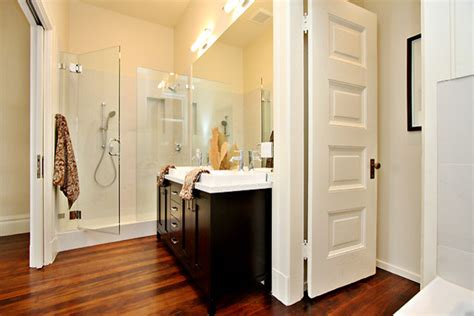 closet in bathroom master bath with walkin closet contemporary bathroom san francisco by ryan