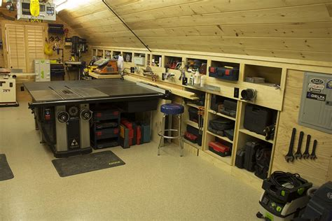 garage work shop woodshop workshop 2nd floor of garage