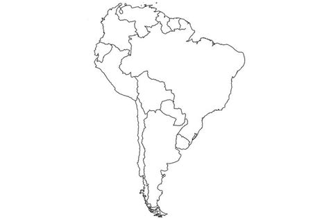 south america map outline countries 17 blank maps of the u s and other countries