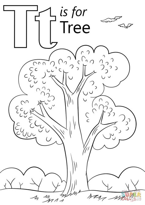 Thanksgiving Craft Ideas Planting Tree Coloring Page - letter t is for tree coloring page free printable