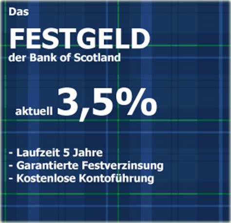 bank of scotland tagesgeldkonto bank of scotland erh 246 ht die festgeldzinsen in allen