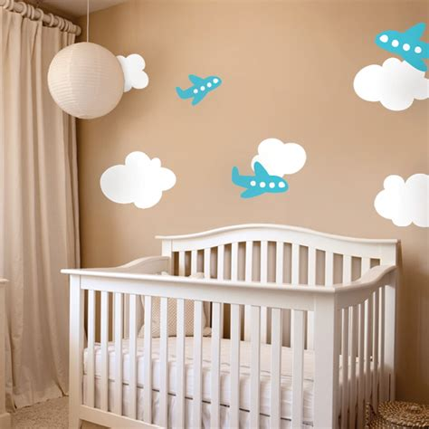 Airplane Wall Decals With Clouds Airplane Wall Decals For Nursery