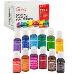food coloring liqua gel 12 color variety kit in 75 fl oz 20ml bottles walmart com