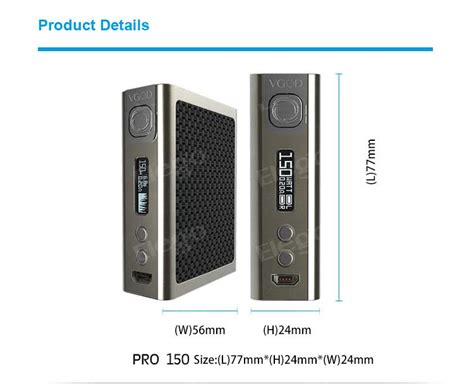 Vgod Box 150 Watt vgod pro 150w box mod