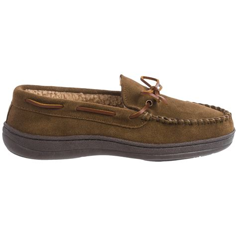 clarks slippers mens clarks suede moccasin slippers for save 40