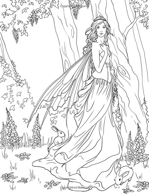 Coloring Pages For Adults Enchanted | fairy adult coloring page source http www amazon com