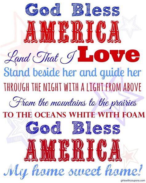 printable lyrics god bless america free god bless america 8 x 10 printable designed by us