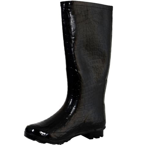mens funky wellington boots black crocodile funky festival wellies wellington
