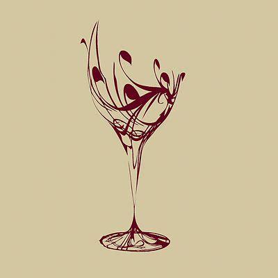 Kitchen Stencil Designs Wine Glass Wall Sticker Design Kitchen Decal Transfer Stencil M1