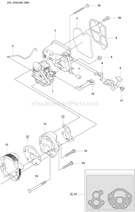 husqvarna 235 e parts list and diagram 2008 01