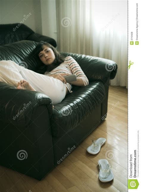 on couch videos girl relaxing royalty free stock photos image 2713428