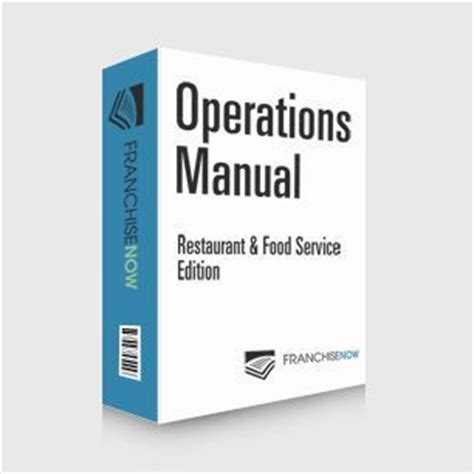 franchise operations manual template free restaurant food edition