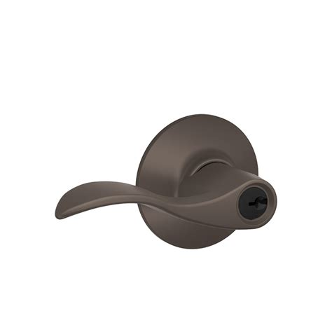 shop schlage f accent rubbed bronze keyed entry door