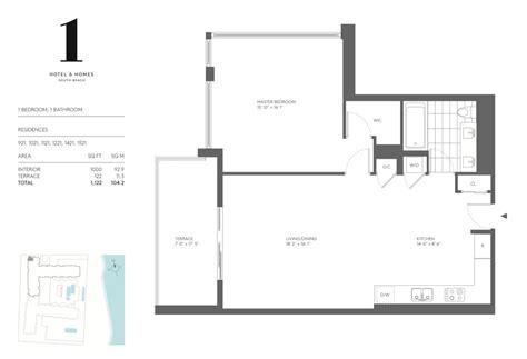 one miami floor plans 1 hotel miami beach condos