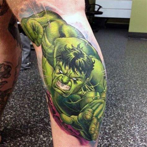 new school hulk tattoo old school comic books like colored hulk tattoo on leg
