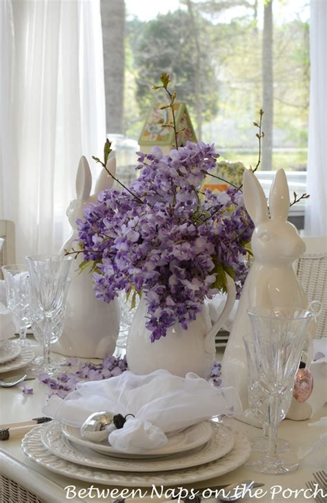 Decorate Front Porch by Easter Tablescapes Table Settings With Wisteria And Bunny