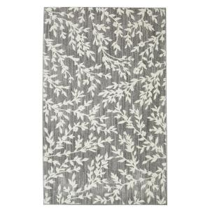 10 13 scroll outdoor rug floral branches gray 8 ft x 10 ft area rug 508753 the