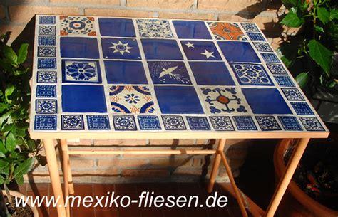 tisch mit fliesen mexiko fliesen de mexiko fliesen shop