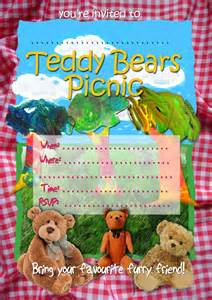 Teddy Picnic Invitation Template by Free Invitations Teddy Bears Picnic Invitation