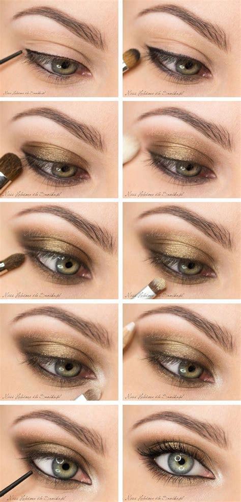 eyeshadow tutorial with gold 10 gold smoky eye tutorials for fall pretty designs