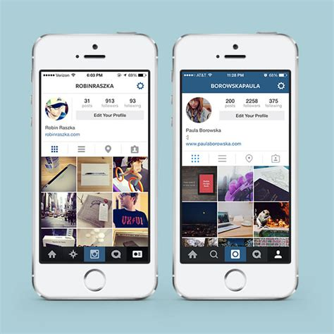 my instagram layout changes comparing ios designs of 5 apps over the years designmodo