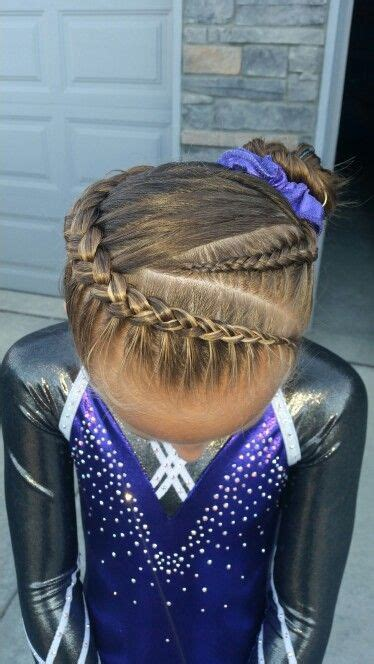 hair styles for gymnastic meets gymnastics hair braids pinteres