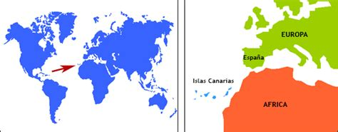 islas canarias y africa mapa donde est 225 n las islas canarias