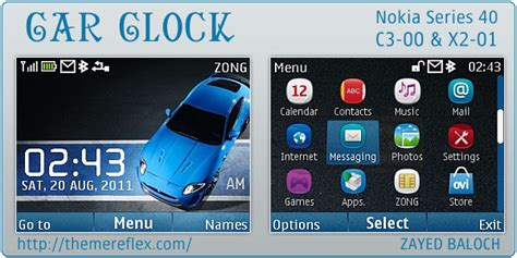 nokia c3 london themes car clock theme for nokia c3 x2 01 themereflex