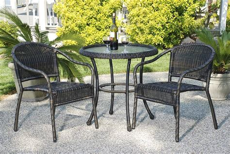 bistro sets outdoor patio furniture harbor resin wicker bistro set cdi 128 s 4