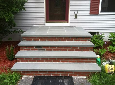 7 steps to choosing brick and stone for your exterior blue stone and brick steps bluestone treads and