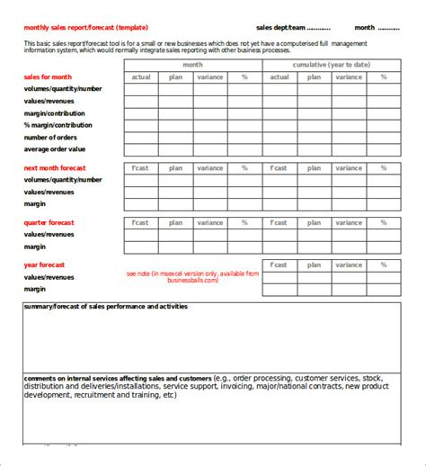 Sales Forecast Report Template 27 monthly sales report templates free sle exle