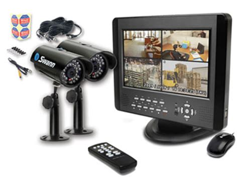 home security system swann dvr4 5000 10 quot monitor 2 cameras