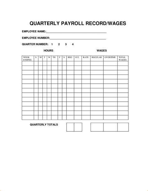 5 Individual Payroll Record Template Secure Paystub Individual Payroll Record Template
