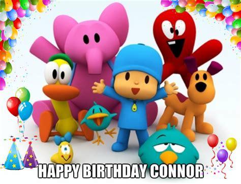 imagenes de happy birthday para ninos pocoyo images connor bday wallpaper and background photos